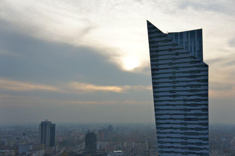 Ausblick vom Kulturpalast in Warschau