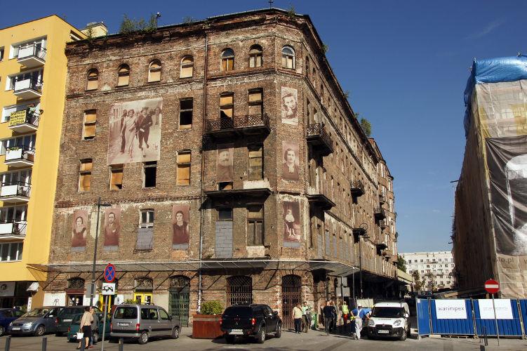 Eines der letzten Überbleibsel des Warschauer Ghettos