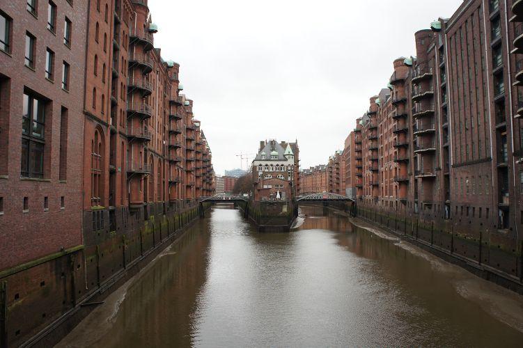 Hafencity in Hamburg (Alte Speicherstadt)