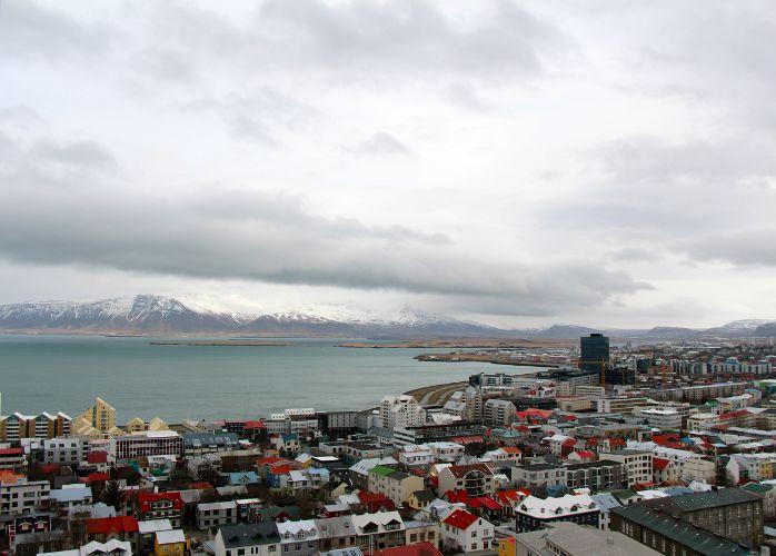 Ausblick auf Reykjavík von der Hallgrímskirkja