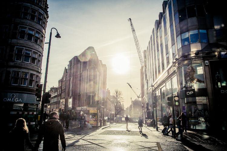 Shoppen auf der Oxford Street, London